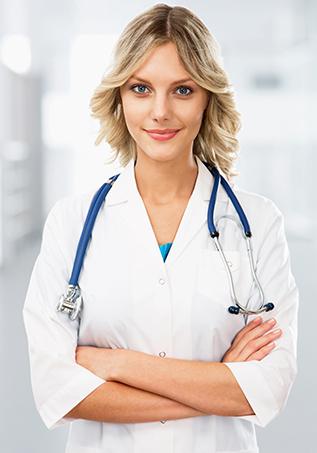 Krankenschwester und Hilfe